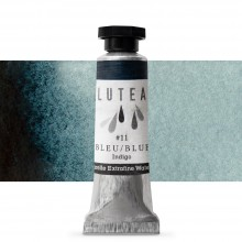 Lutea : Extra Fine Natural Watercolor Paint : 9ml : Blue (Indigo)