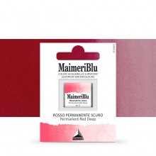 MaimeriBlu : Watercolor Paint : Half Pan : Permanent Red Deep