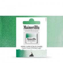 MaimeriBlu : Watercolor Paint : Half Pan : Cupric Green (Phthalo) Light