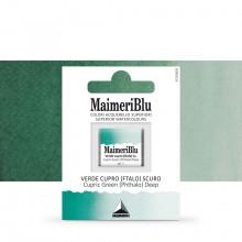MaimeriBlu : Watercolor Paint : Half Pan : Cupric Green (Phthalo) Deep