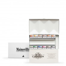 MaimeriBlu : Watercolor Paint : Half Pan : Metal Box Set of 12