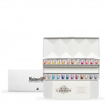 MaimeriBlu : Watercolor Paint : Half Pan : Metal Box Set of 24
