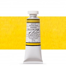 M. Graham : Artists' Watercolor Paint : 15ml : Hansa Yellow Deep