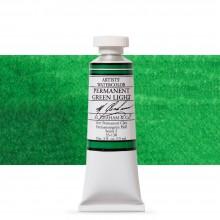 M. Graham : Artists' Watercolor Paint : 15ml : Permanent Green Light