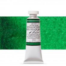 M. Graham : Artists' Watercolor Paint : 15ml : Phthalocyanine Green Yellow Shade