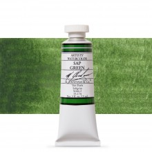 M. Graham : Artists' Watercolor Paint : 15ml : Sap Green