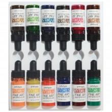 Dr. Ph. Martin's : Hydrus Liquid Watercolor Paint : 15mlx12 : Set 2 (13H : 24H)