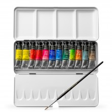 Sennelier : Watercolor Paint : Classic Metal Tin Set Of 12 x 10ml Tubes