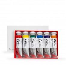 ShinHan : Premium Extra Fine Watercolor Paint : 15ml : Main Colors A Set of 6