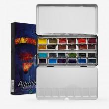 Roman Szmal : Aquarius : Watercolour Paint : Full Pan : Andrzej Gosik Set of 24