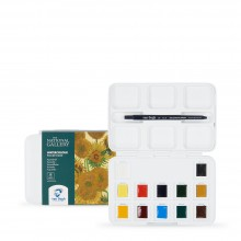 Royal Talens : Van Gogh : Watercolour Paint : Half Pan : National Gallery Pocket Box Set of 12