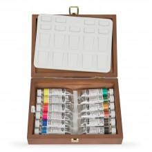Schmincke : Horadam Watercolor : Wooden Box Set : 12x15ml Tubes