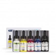 Schmincke : Aqua Drop : Liquid Watercolour : 30ml : Primary Colour Set of 5