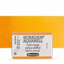 Schmincke : Horadam Watercolor Paint : Full Pan : Yellow Orange