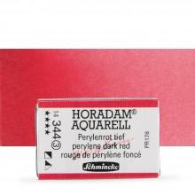 Schmincke : Horadam Watercolor Paint : Full Pan : Perylene Dark Red