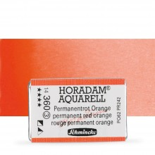 Schmincke : Horadam Watercolor Paint : Full Pan : Permanent Red Orange