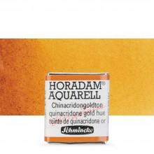 Schmincke : Horadam Watercolor Paint : Half Pan : Quinacridone Gold Hue