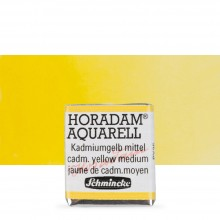 Schmincke : Horadam Watercolor Paint : Half Pan : Cadmium Yellow Medium