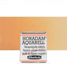 Schmincke : Horadam Watercolor Paint : Half Pan : Naples Yellow Reddish