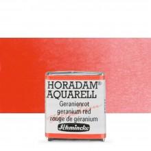 Schmincke : Horadam Watercolor Paint : Half Pan : Geranium Red