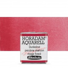 Schmincke : Horadam Watercolor Paint : Half Pan : Perylene Maroon