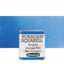 Schmincke : Horadam Watercolor Paint : Half Pan : Mountain Blue