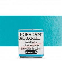 Schmincke : Horadam Watercolor Paint : Half Pan : Cobalt Turquoise