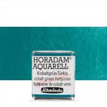 Schmincke : Horadam Watercolor Paint : Half Pan : Cobalt Green Turquoise