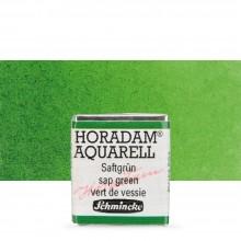 Schmincke : Horadam Watercolor Paint : Half Pan : Sap Green