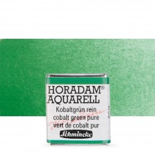 Schmincke : Horadam Watercolor Paint : Half Pan : Cobalt Green Pure