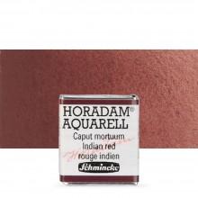 Schmincke : Horadam Watercolour Paint : Half Pan : Indian Red