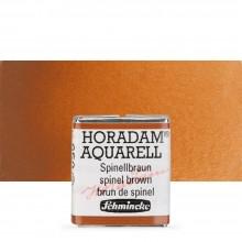 Schmincke : Horadam Watercolor Paint : Half Pan : Spinel Brown