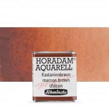 Schmincke : Horadam Watercolor Paint : Half Pan : Maroon Brown