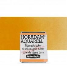 Schmincke : Horadam Watercolor Paint : Half Pan : Titanium Gold Ochre
