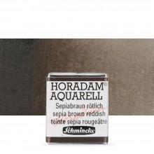 Schmincke : Horadam Watercolor Paint : Half Pan : Sepia Brown Reddish