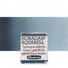 Schmincke : Horadam Watercolor Paint : Half Pan : Payne's Grey Bluish