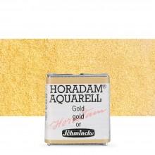 Schmincke : Horadam Watercolor Paint : Half Pan : Gold