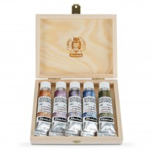 Schmincke : Horadam Watercolour Paint : Super Granulation Set : 15ml : 5 Tundra Colours