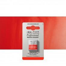 Winsor & Newton : Professional Watercolor : Half Pan : Cadmium Red
