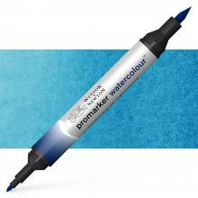 Winsor & Newton : Watercolor Marker : Prussian Blue Hue