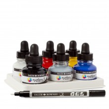 Daler Rowney : System 3 : Acrylic Ink : 29.5ml : Introduction Set of 6