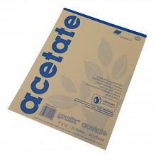 Grafix : Clear Acetate 0.003in Gummed Pads : 25 Sheets
