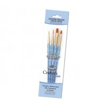 Royal & Langnickel : Gold Nylon Acrylic Brush Set