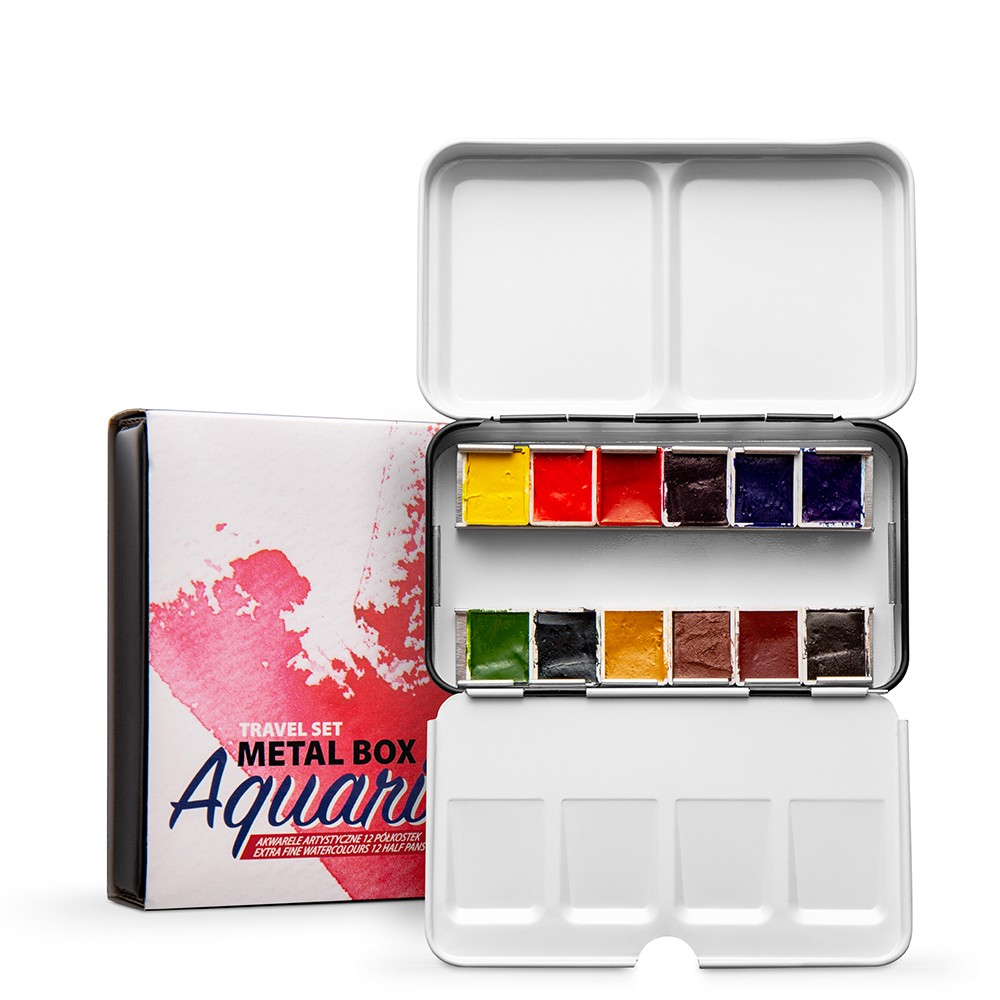 Roman Szmal : Aquarius : Watercolour Paint : Half Pan : Travel Set of 12