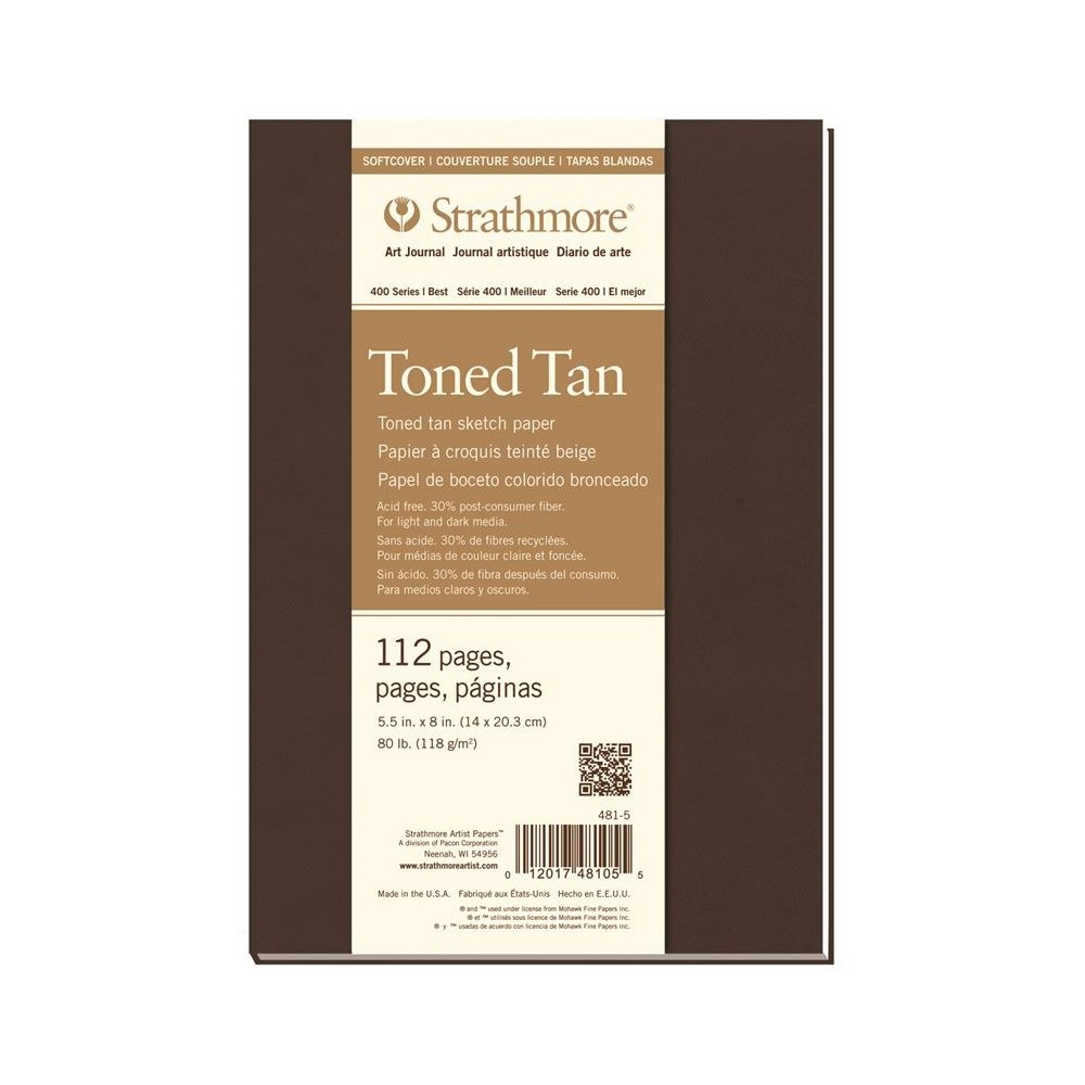 Strathmore : 400 Series : Toned Tan : Softcover Art Journal : 5.5x8in