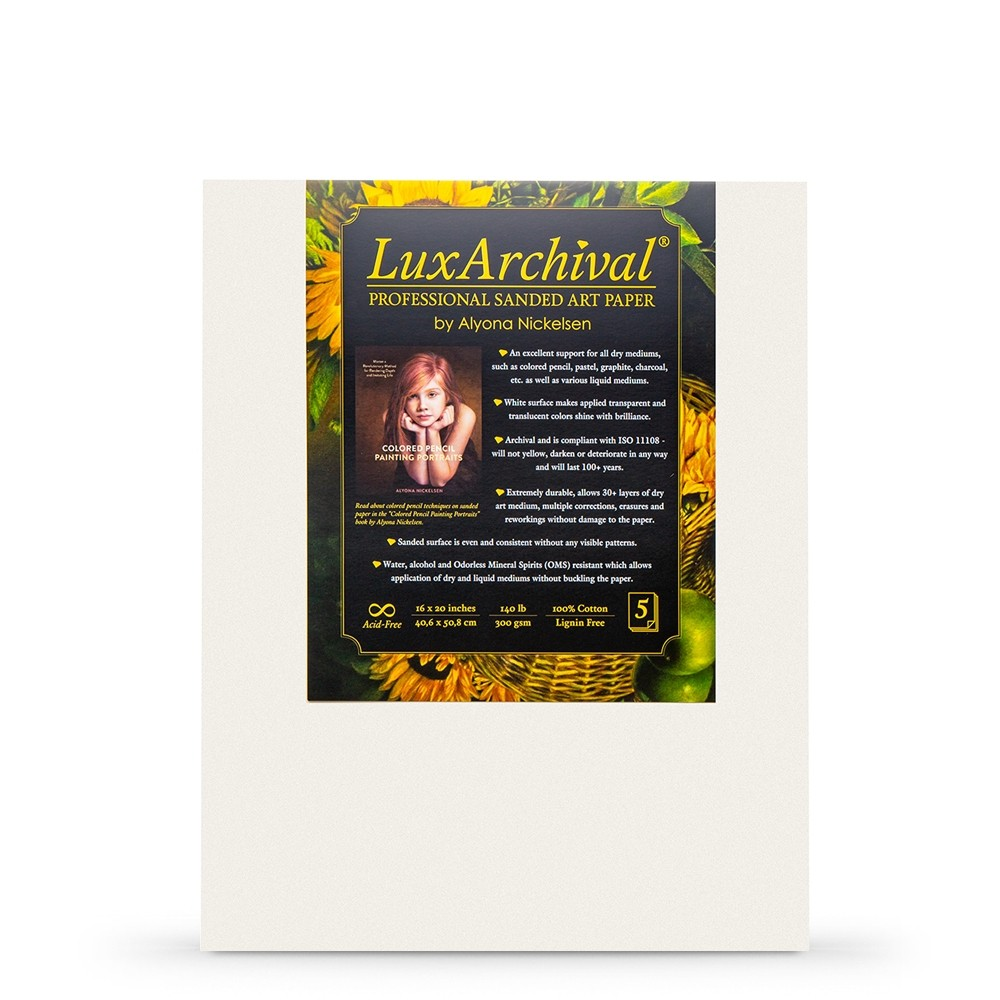 LuxArchival : Professional Sanded Art Paper : 400 Grit : 8x10in : Pack of 10 Sheets