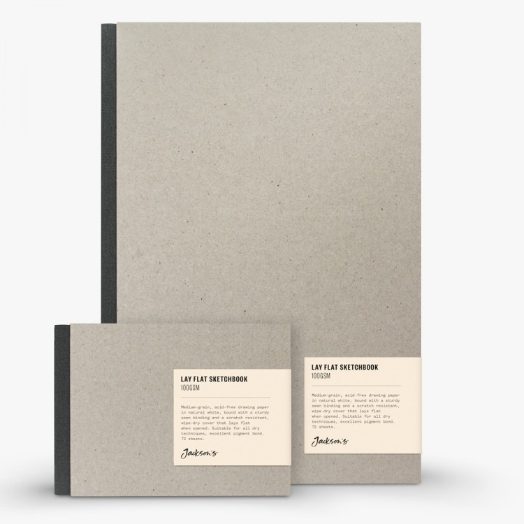Jackson's : Lay-Flat Hardcover Sketchbooks : 100 gsm