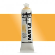 Derivan : Matisse Flow : Acrylic Paint : 75ml : Metallic Light Gold