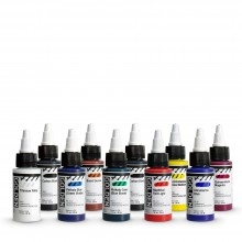 Golden : High Flow : Acrylic Paint : 30ml : Assorted Set of 10
