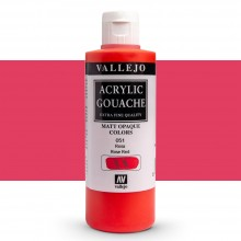 Vallejo : Acrylic Gouache : 200ml : Red (Rose)